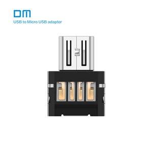 Image 1 - Freies verschiffen Neue DM OTG adapter 100 teile/los OTG funktion Drehen normalen USB in Telefon USB Flash Drive Handy adapter