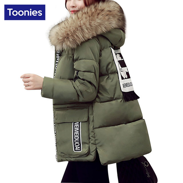 Womens Quilted Coat Kore Female Cotton Loose Jacket Thick Padded Thickened Coat Winter Female Short Jacket With Hood Light Large