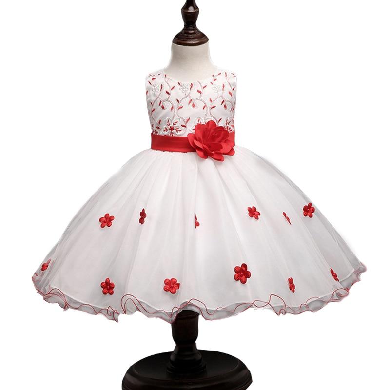 2017 romantic flower girl dresses ball gowns for children for Dresses for girls for wedding