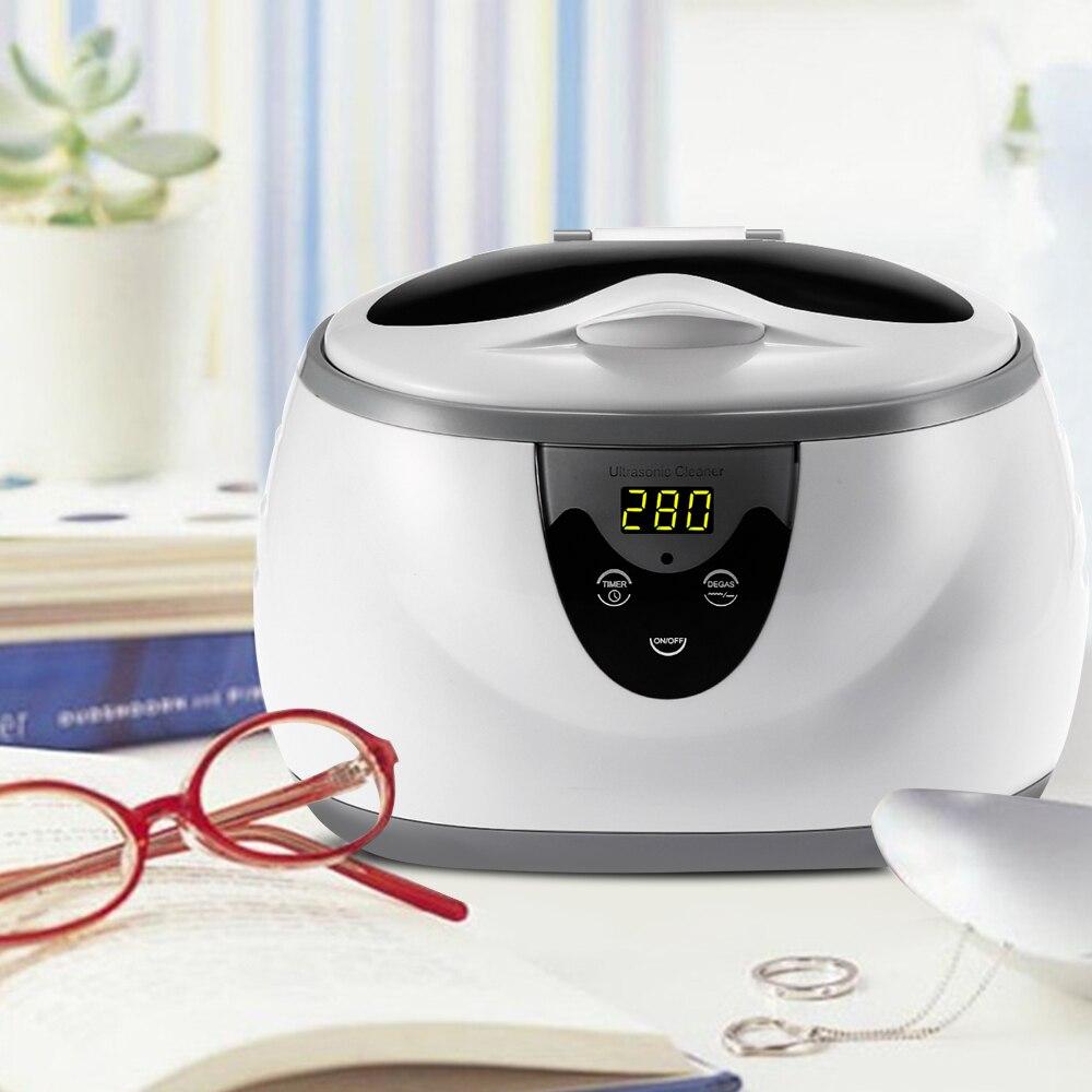 Digital Ultrasonic Cleaner Wash Bath Tank Baskets Jewelry Watches Dental 0.6L 35W 40kHz Ultrasound Mini UltraSonic Cleaner Bath