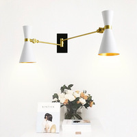 Northern Europe Wall light Creative Countryside Adjustable Wall Sconce E27 Bedroom Lighting Bedside Reading Lamp