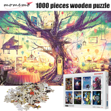 MOMEMO Home In The Heart Wooden Puzzle Adults 1000 Pieces Jigsaw Puzzles Children's Educational Toys Puzzle Game Box Packing