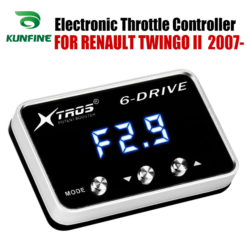 Car Electronic Throttle Controller Racing Accelerator Potent Booster For RENAULT TWINGO II  2007-2019 Tuning Parts AccessoryCar Electronic Throttle Controller Racing Accelerator Potent Booster For RENAULT TWINGO II  2007-2019 Tuning Parts Accessory