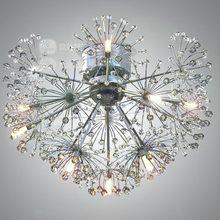 Европейский стиль минималистский стиль гостиной столовая творческий лампы ПРИВЕЛО одуванчика кристаллов потолочный светильник