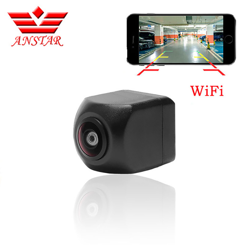 ANSTAR Mini Wifi Waterproof HD Night Vision Car Backup Reverse Camera Rear For IOS and Android Monitor Parking Rear View Camera car rear view night camera reverse backup parking camera waterproof