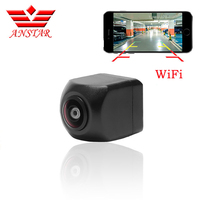ANSTAR Mini Wifi Waterproof HD Night Vision Car Backup Reverse Camera Rear For IOS and Android Monitor Parking Rear View Camera