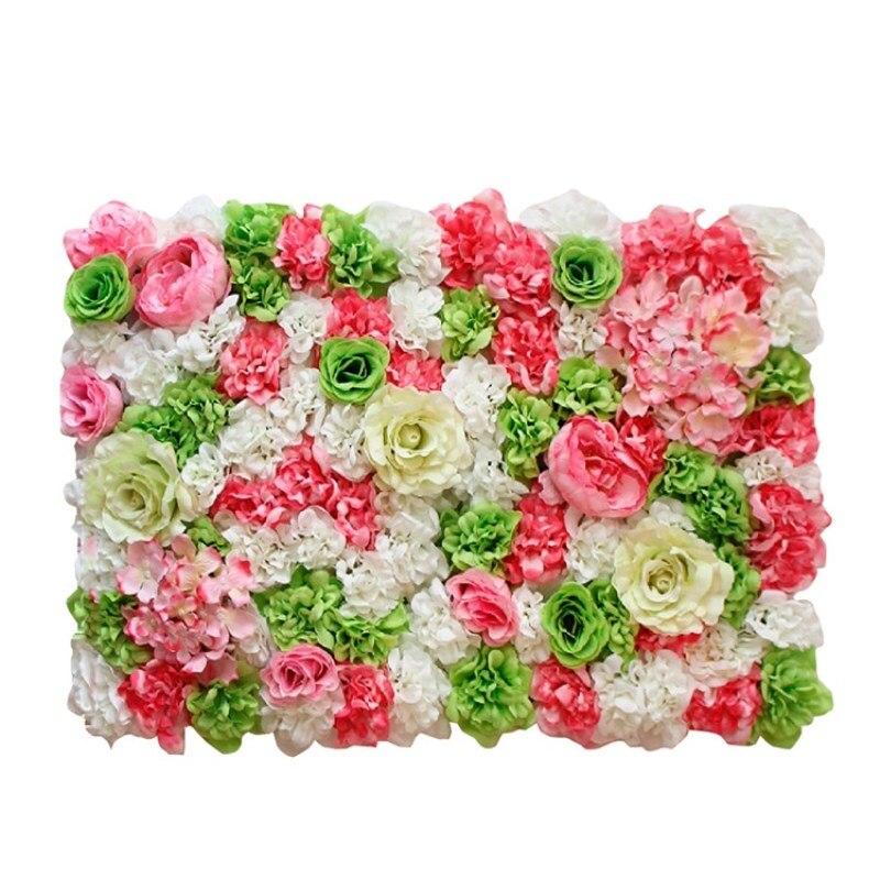 Hot Koop Upscale Wedding Achtergrond Centerpieces Bloem Panel Rose Hortensia Bloem Muur Party Decoraties Levert 24 stks/partij - 6