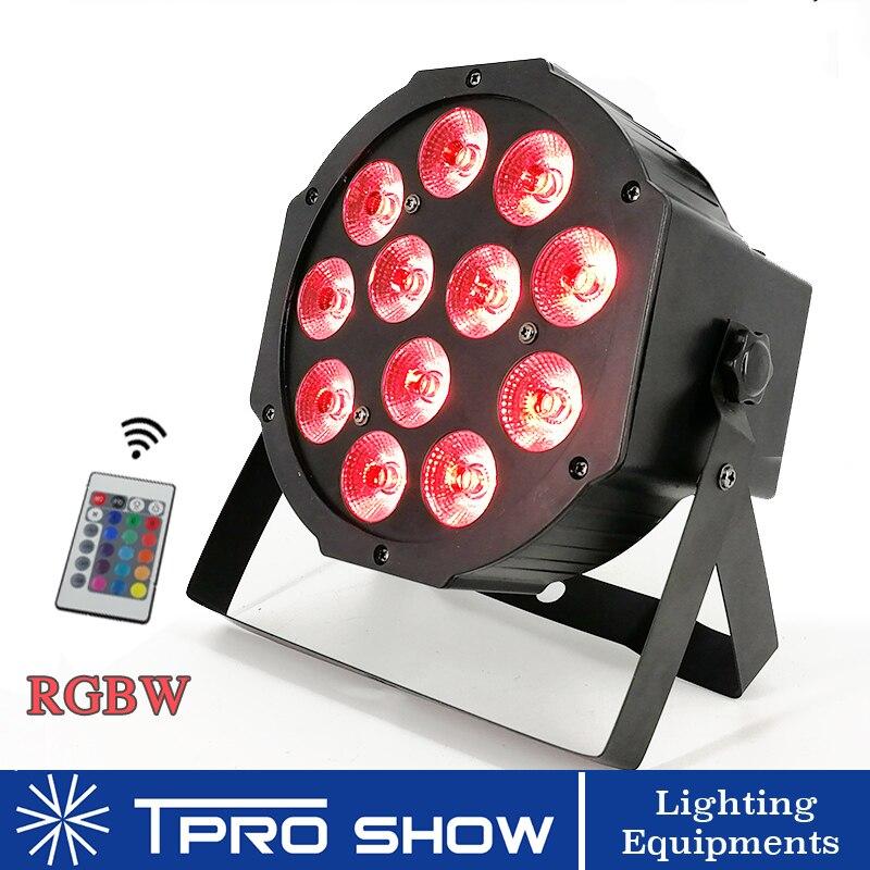 12x12 W LED Par RGBW stade lumières sans fil télécommande LED lumières de fête Mini Disco Dmx LED projecteur pour décor de Club de mariage