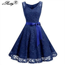 Lace Patchwork Women font b Vintage b font font b Dress b font Spring Summer Sleeveless