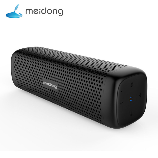 Meidong MD 6110 اللاسلكية مكبر الصوت المحمول الذي يعمل بالبلوتوث 15 واط سوبر باس مكبر الصوت ميكروفون مدمج 12 ساعة اللعب للهاتف الكمبيوتر