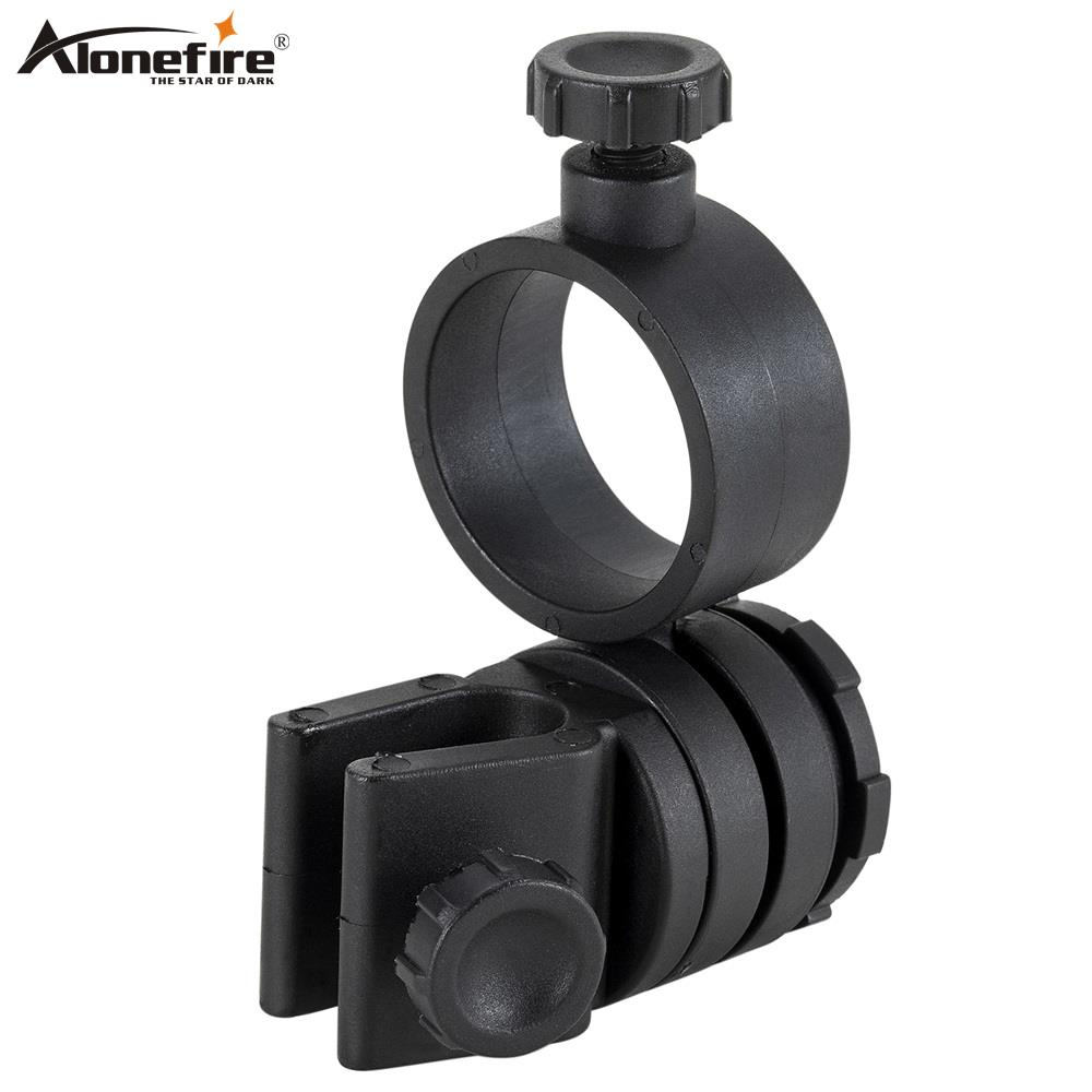 AloneFire M370 Tactical Helmet Clamp Miners Lamp Cap Helmet Flashlight Clamp Clip Outdoor LED Light Holder Headlight Mount