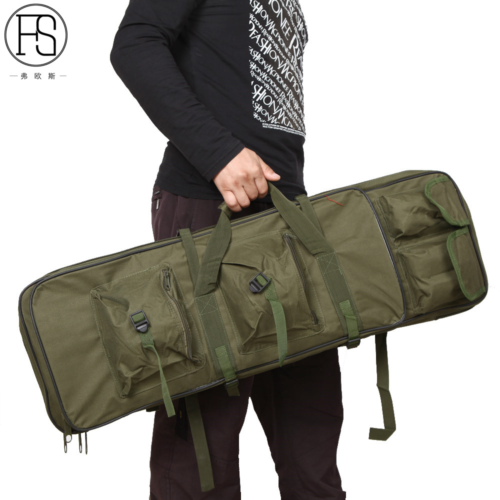 Image 2 - Outdoor Military Hunting Bag Nylon 81CM Tactical Shooting Bag Square Carry Gun Bag Hand Gun Accessory Protection Case Backpack-in Holsters from Sports & Entertainment