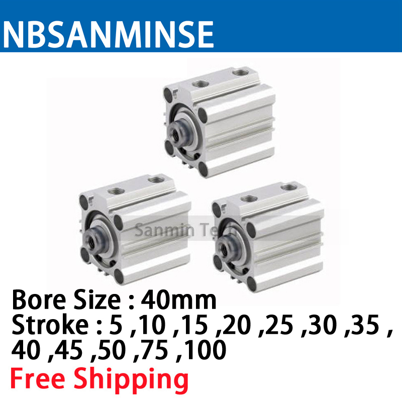 CQ2B 40mm Bore Size Compact Cylinde SMC Type Double Acting Single Rod Pneumatic ISO Compact Cylinder High Quality Sanmin high quality double acting pneumatic gripper mhy2 25d smc type 180 degree angular style air cylinder aluminium clamps