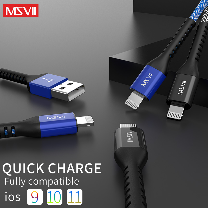 Usb Cable For iPhone Cable 8 7 6 Plus 6S 5 5S Se X for iPad 2 Mini Fast Charging Cables Mobile Phone Charger Cord Data Adapter