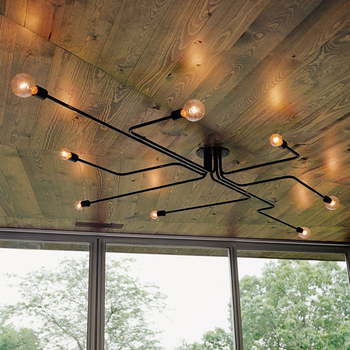 ceiling lights with bulb vintage iron ceiling lamp lamparas de techo living room bedroom cafe bar kitchen light ceiling lighting ceiling lights kitchen light lamparas de techo -