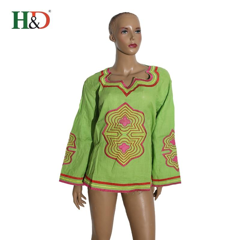 H & D 2018 Дашики Женские топы из хлопка и льна футболки африканских платье традиционные в африканском стиле Одежда Базен Riche африкен Femme