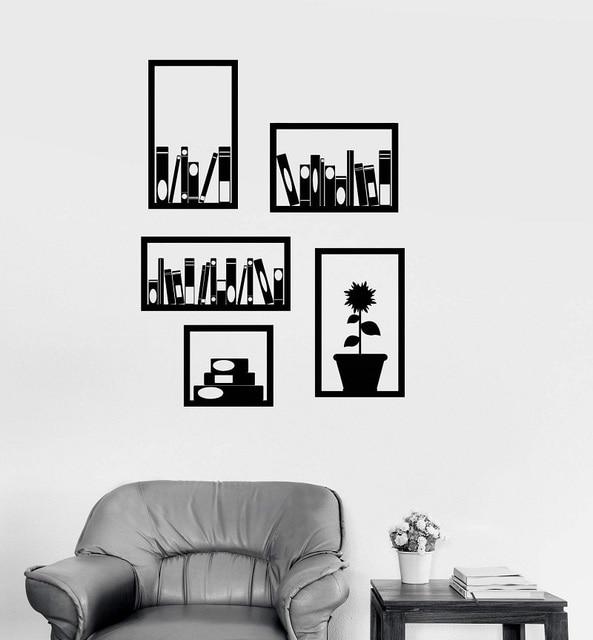 الفينيل صور مطبوعة للحوائط مكتب رف الكتب الديكور الداخلي غرفة المدرسة الفصول الدراسية مكتبة مكتب ملصقات 2BG12