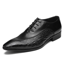 British business dress shoes men banquet fashion groom genuine leather bullock mens autumn winter cowhide
