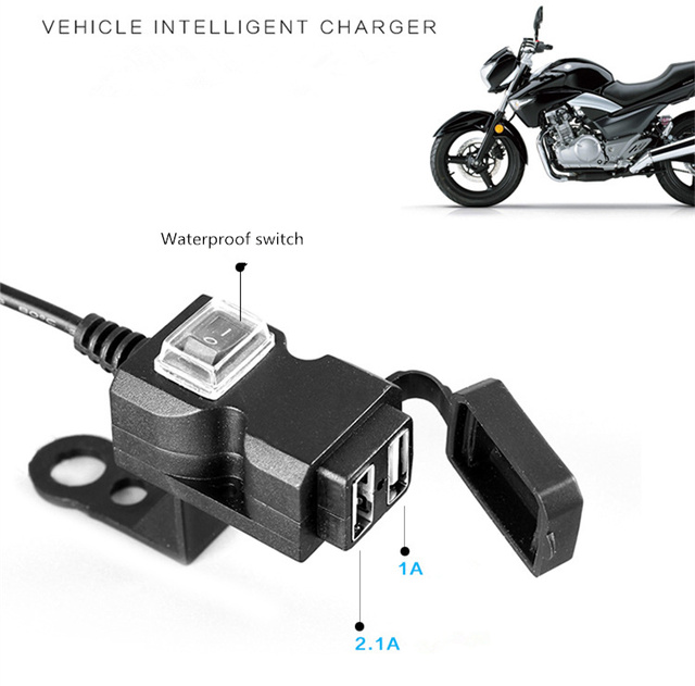 Electric Car Usb Mobile Phone Charger 9 90v 36v48v 100v Universal Turn 5v2a Fast Charge Waterproof