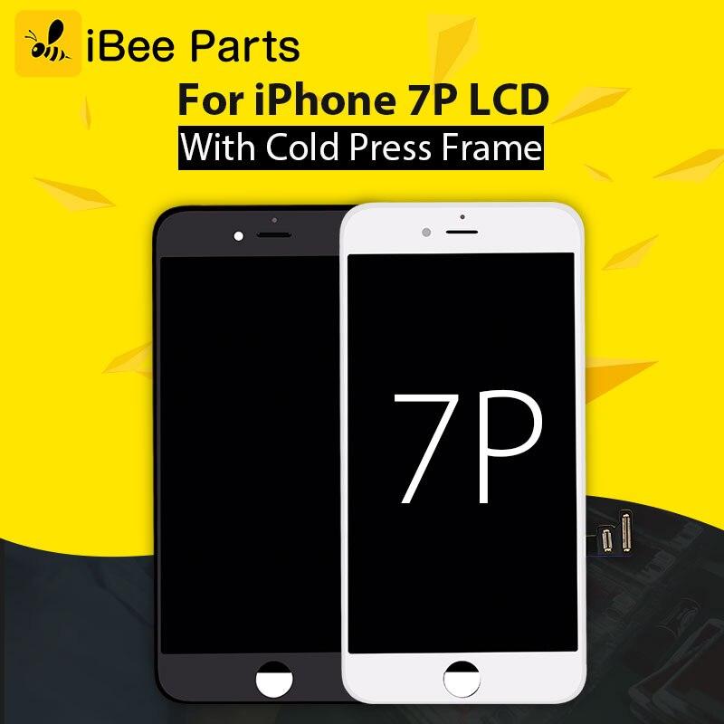 IBee Pièces 10 PCS Pour tianma Pour iPhone 7 Plus LCD Écran AAA Blanc noir Pantalla Ecran Bonne 3D Tactile avec Bonne rétro-éclairage