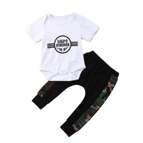 5dfa094c8 2018 Casual Newborn Baby Kids Boy Romper Camo Pants Trousers ...