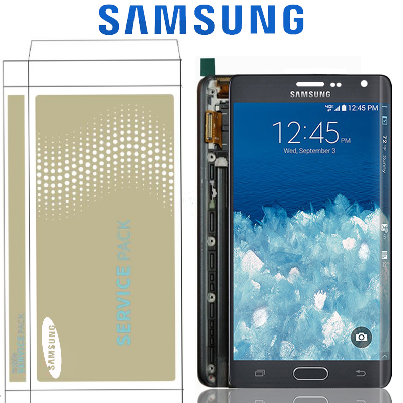 5.6'' Original Super AMOLED LCD For Samsung GALAXY Note 4 Edge N915 N9150 N915F Display With Touch Screen Digitizer With Frame-in Mobile Phone LCD Screens from Cellphones & Telecommunications