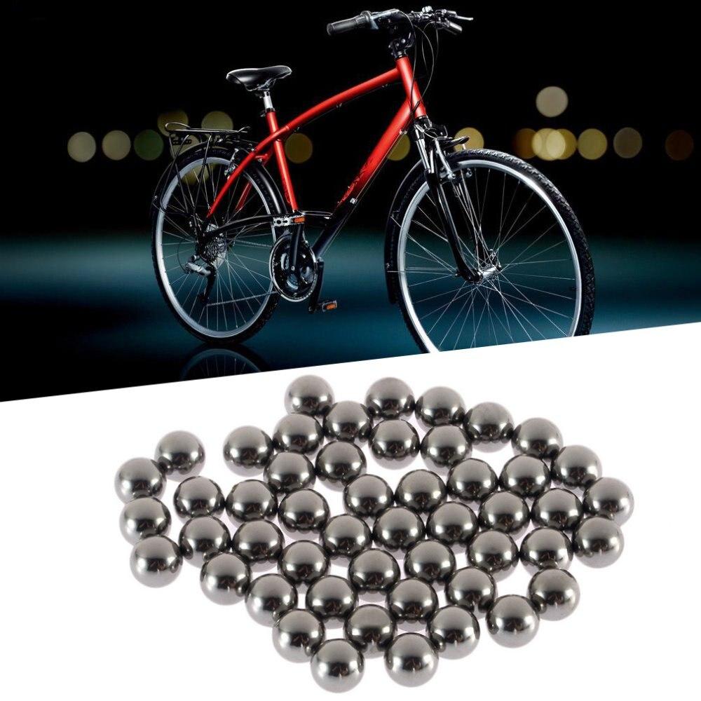 Spor ve Eğlence'ten Rulmanlar'de 50 adet dayanıklı bisiklet paslanmaz çelik bilyalı yedek parçaları 6mm bisiklet bisiklet çelik bilyalı rulman title=