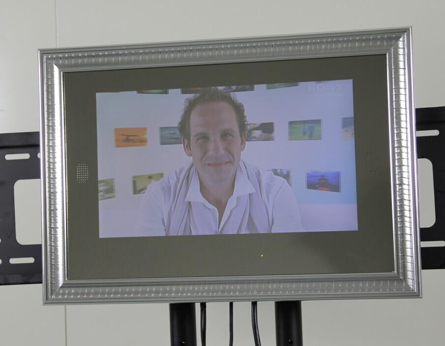 21.5 pulgadas marco de imagen espejo TV / publicidad del jugador de ...