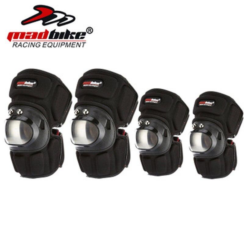 FOU-VÉLO 4 pcs de protection genou acier inoxydable moto motocross protecteur court genou protecteur quatre-pièce chevalier équipement