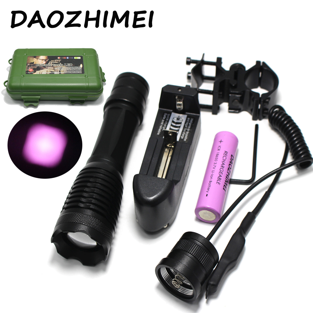 IR 850nm 5w Night Vision Infrared Zoomable LED Flashlight TorchCamping ON/OFF Mode With Gun Clip+Dual mode Remote Pressure Switc alonefire x510 5w infrared red ir 850nm zoomable 1 mode ir flashlight 850nm 1 mode night vision infrared flashlight