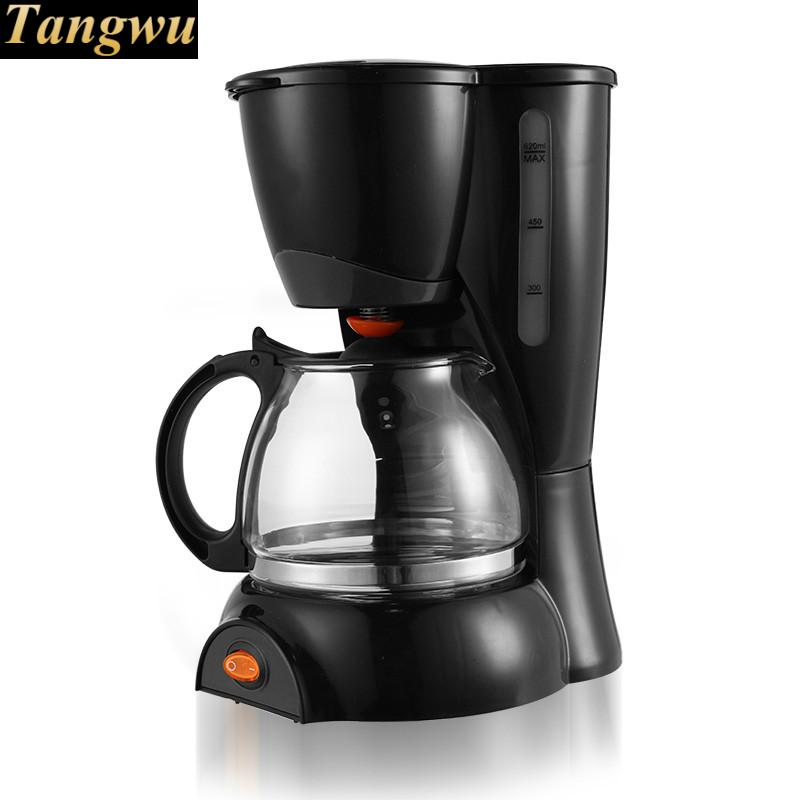 coffee maker USES the American drip - automatic mini pot coffee maker uses the american drizzle to make tea drinking machine
