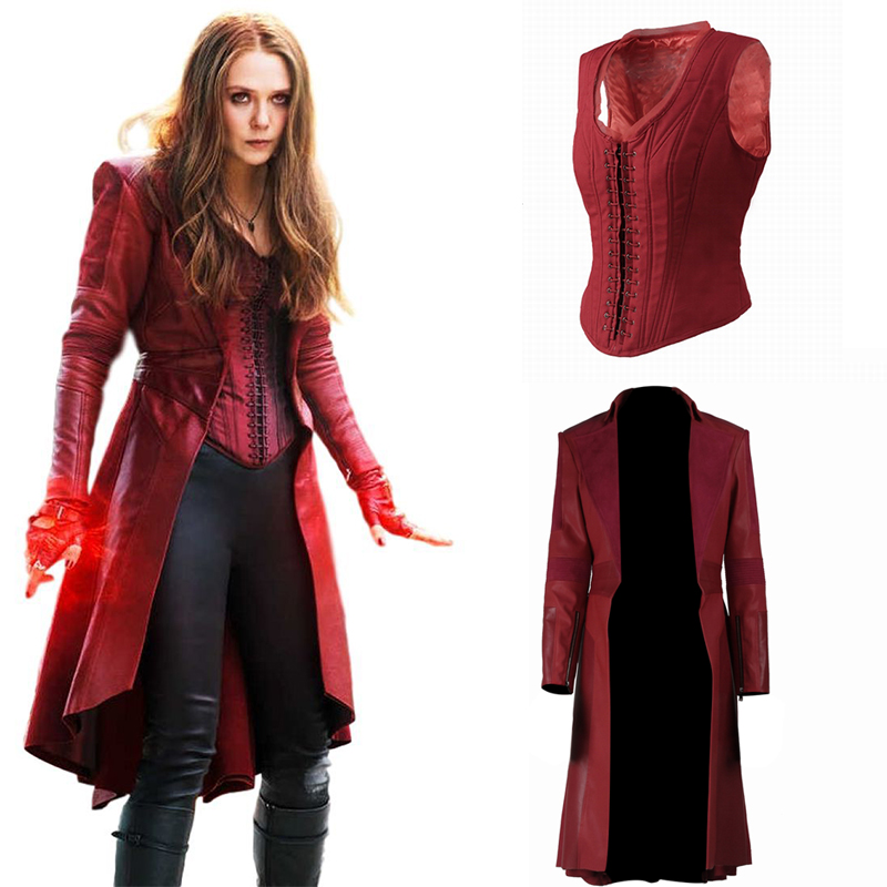 Scarlet Witch Cosplay Wanda Maximoff Costume Avengers Infinity War Captain America Civil War Halloween Women Accessories image