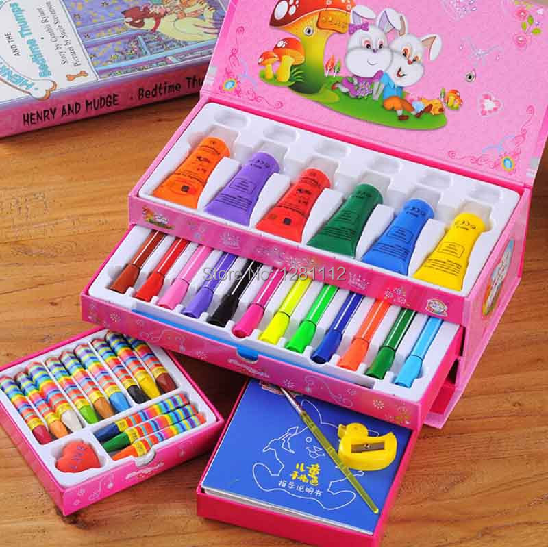 12Sets/lot Painting Gift for Kids Educational Toy Children