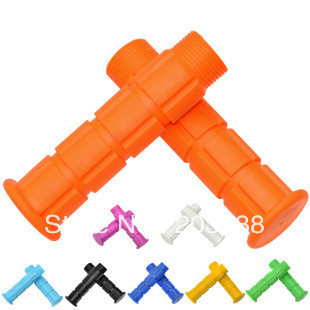 BMX Cycling Handlebar Grips Bicycle Mountain Road MTB Bike Handle Bar Ends Fixed Gear Bicycle grips ten colour free shipping