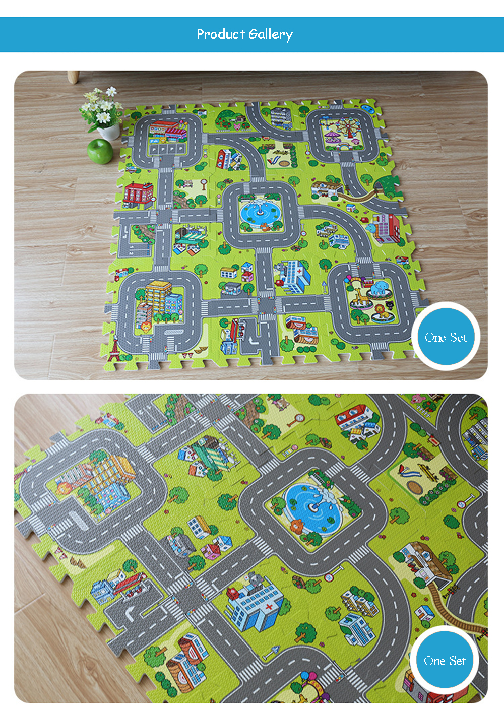 HTB1FuATdZLJ8KJjy0Fnq6AFDpXam Baby EVA Foam Puzzle Play Floor Mat City Road Education Carpets Interlocking Tiles Kids Traffic Route Ground Pad (No Edge) NEEU