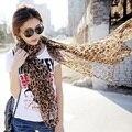 Mulheres Foulard Verão quente do Xaile do Lenço Sexy Leopard Cachecóis Para As Mulheres Chiffon Longo Protetor Solar Pashmina Cachecol Echarpes Fulares Mujer