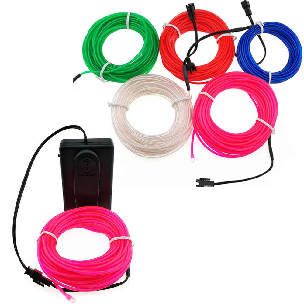 3 M/5 M elastyczny Neon lampa przewód świecący taśma kablem pasek światła neonowe led buty odzież wystrój samochodu wodoodporna taśma led światła