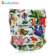 3 pcs Printed Adult Diaper for old people with absorbent diaper pad microfiber reusable printed adult