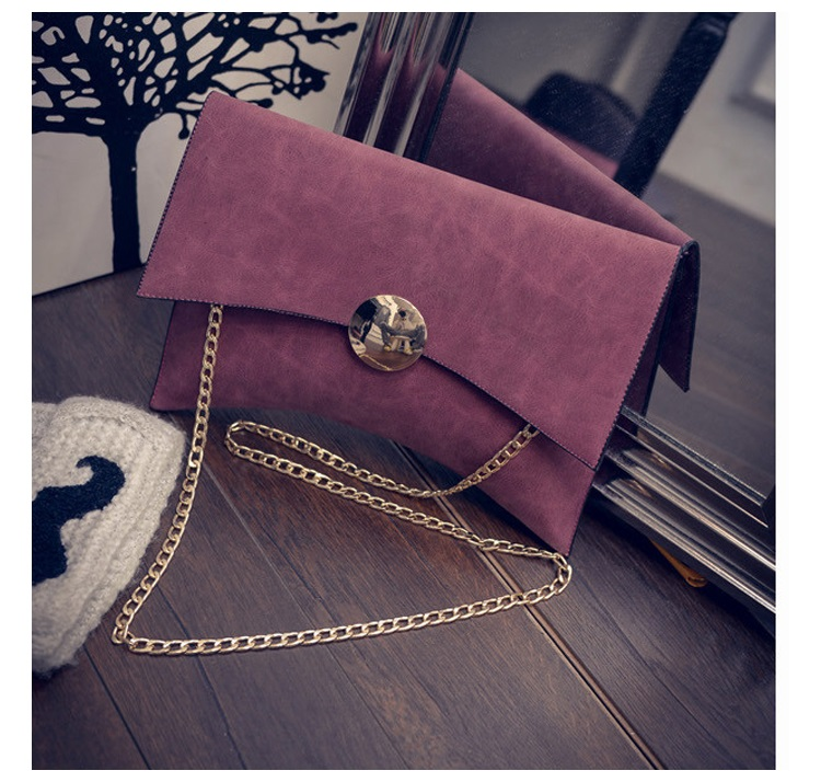 NIGEDU Design Women Clutch Bag Faux Suede Ladies Shoulder Bag female evening bags Matte Leather Chains Envelope Crossbody Bag (8)