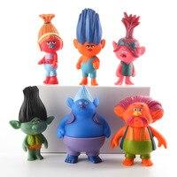 Trolls Film 4-8 cm Dreamworks Jouets D'action Figure Collection Pavot Branche Biggie PVC Chiffres Poupée Jouet Trolls Décoration cadeau