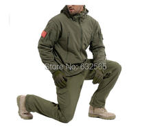 High Quality Waterproof Tactical Hunting Army Jacket TAD V4.0 Hoodie Lurker Shark Skin Soft Shell Jackets + Pants Men Suit Set