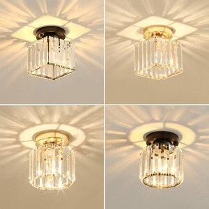Image 5 - Plafonnier rond et carré, éclairage décoratif de plafond, éclairage décoratif de plafond, E14 Lig, collection cristal LED moderne