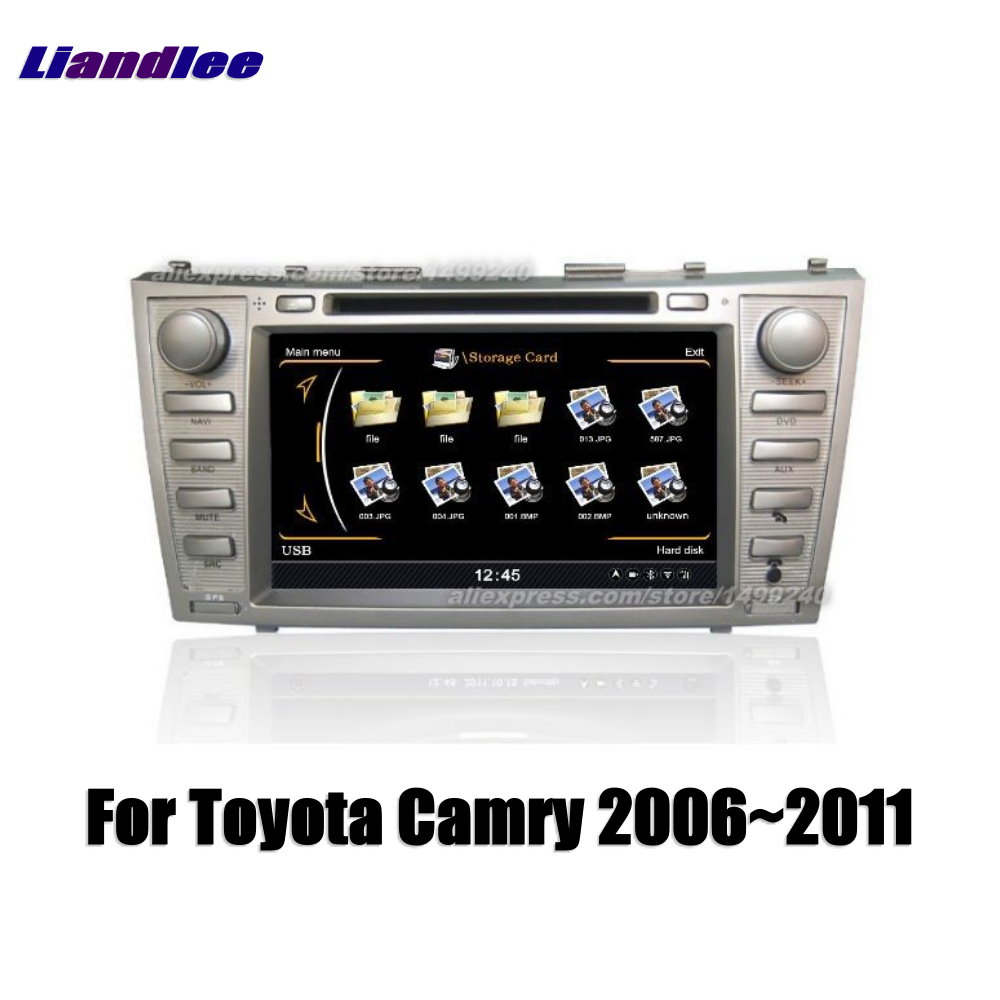 Liandlee 2 din Car Android For Toyota Camry 2006~2011 Radio GPS Maps Map Navigation player HD Screen BT WIFI Media System