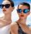 Olhos de gato lentes de espelho Revo Lens Eye Glasses moda mulheres personalizado óculos de sol