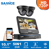 SANNCE 4CH 720P Security DVR With Build In 10 1 LCD Monitor And 2 1 0MP