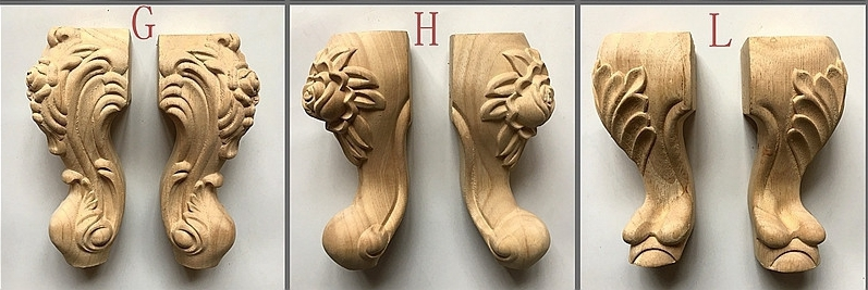 Wooden Carved Furniture Legs