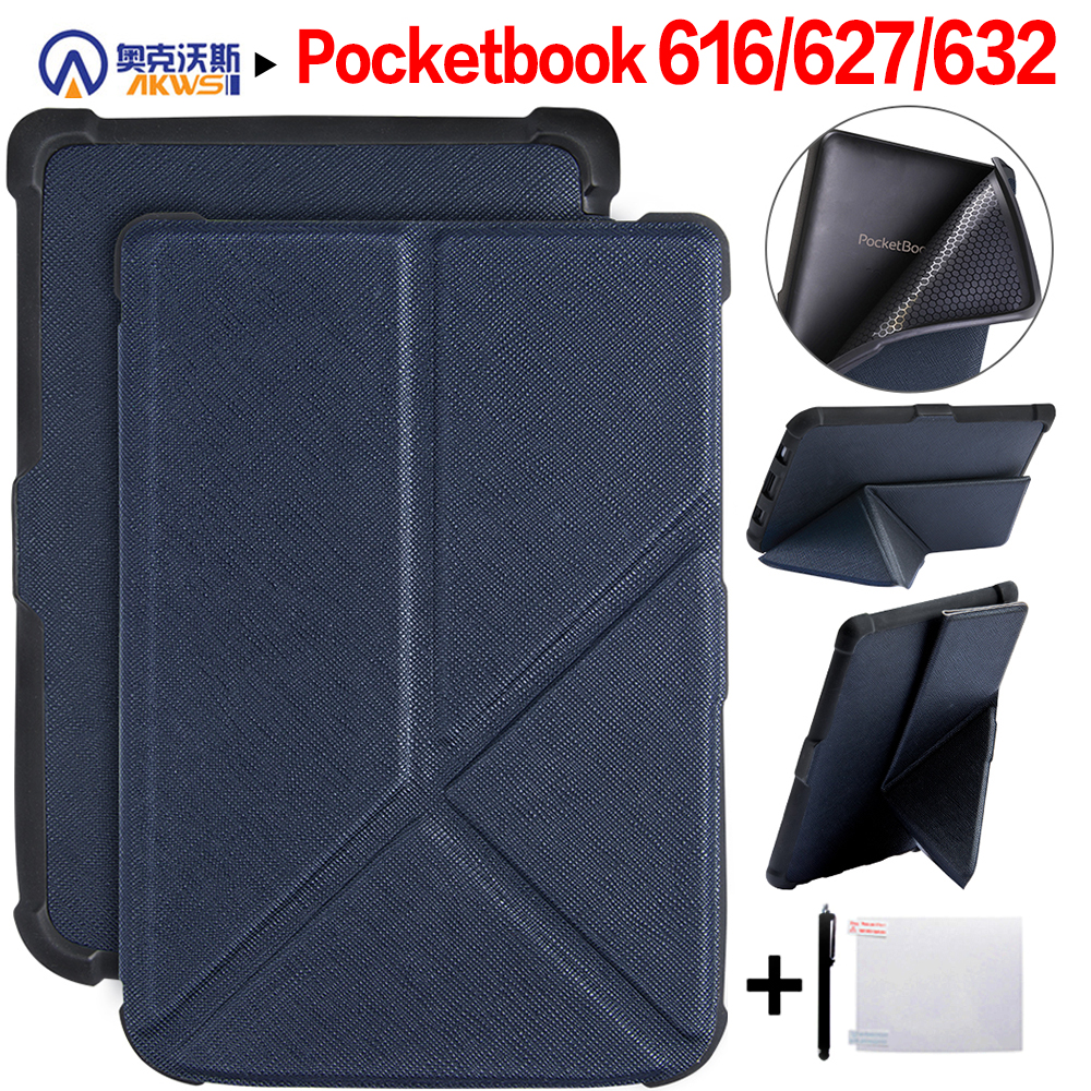 Walkers Origami Thin Smart Cover Case For Pocketbook 616/627/632 Pocketbook Basic Lux 2/touch Lux/touch HD 3+gift