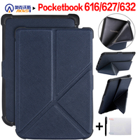 Walkers Origami funda inteligente delgada para Pocketbook 616/627/632 Pocketbook básica Lux 2/touch Lux/touch HD 3 + regalo