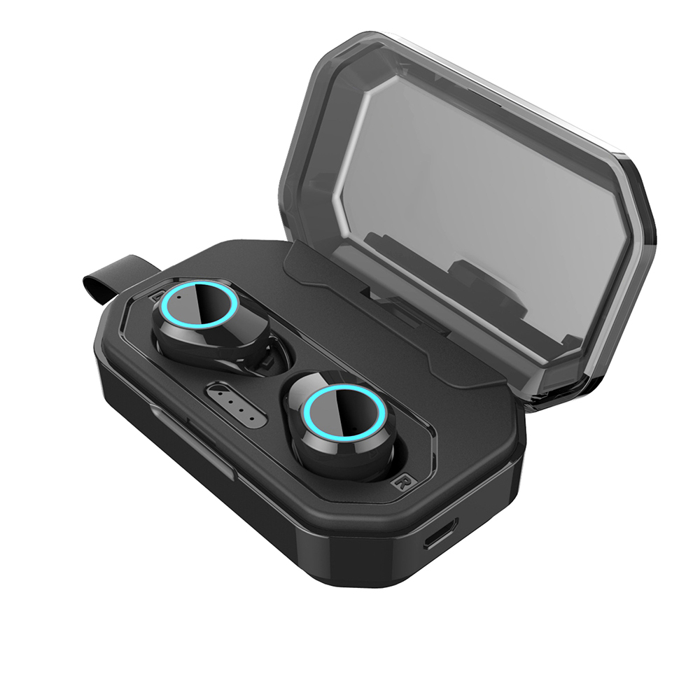 HANTOPER Bluetooth 5 0 Headphones Earbud with Large Capacity Charging Case Handsfree Stereo Games Earphone For