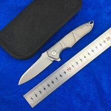 LEMIFSHE Flipper  Folding Knife S35VN blade Titanium alloy handle outdoor camping hunting pocket kitchen fruit Knives EDC Tool цена 2017